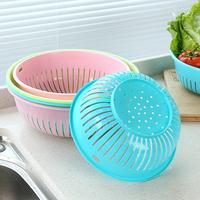 圆形镂空洗菜篮沥水篮