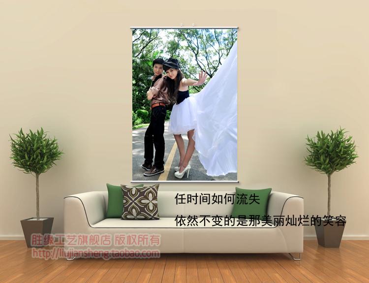 24-дюймовый холст висит картина искусства свадебное фото свадебный плакат изготовленный на заказ Eco-содружественные водоустойчивые не исчезают!