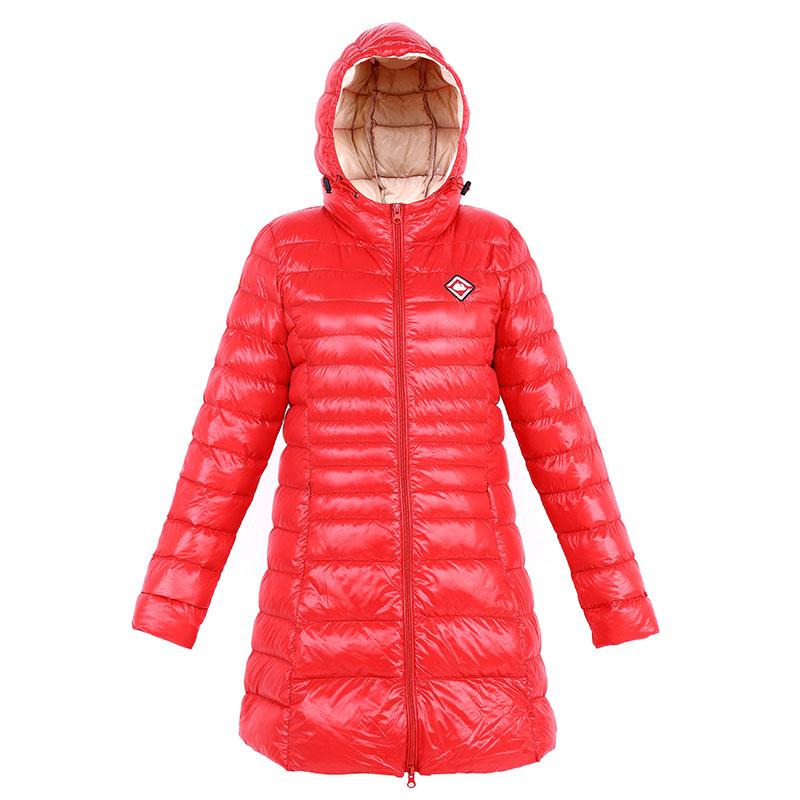 女士修身连帽轻薄羽绒服中长款 2016冬季新款显瘦外套薄款
