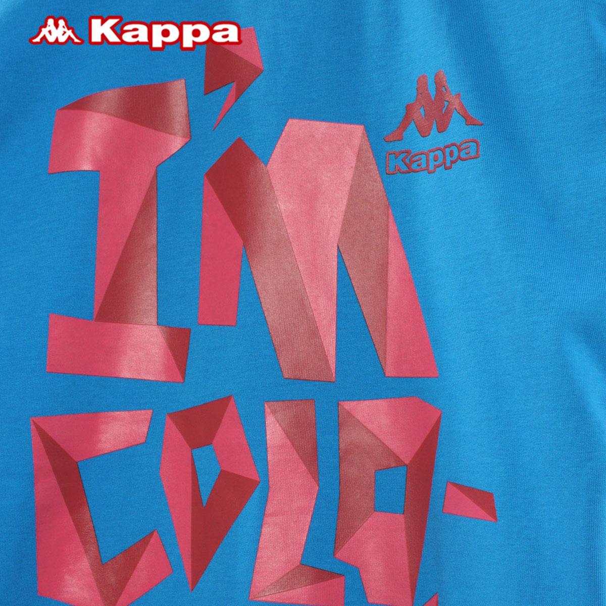 Спортивная футболка KAPPA k0132td51/841 K0132TD51-841 Стандартный О-вырез Короткие рукава ( ≧35cm ) 100 хлопок Для спорта и отдыха Быстросохнущие, Ультралегкие, Воздухопроницаемые % Рисунок, Надпись