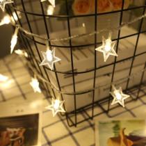 led星星彩灯闪灯串五角星小彩灯装饰灯宿舍房间装饰灯浪漫满天星
