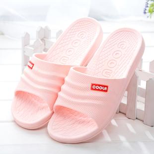 夏季浴室洗澡防滑男女士居家拖鞋室内家用厚底塑料家居情侣凉拖鞋