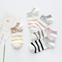 袜子女士秋季纯棉袜隐形船袜低帮浅口薄袜短袜日系袜可爱四季棉袜