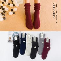 冬季堆堆袜 女韩国秋冬季加厚羊毛中筒袜冬天保暖长潮秋冬款女袜