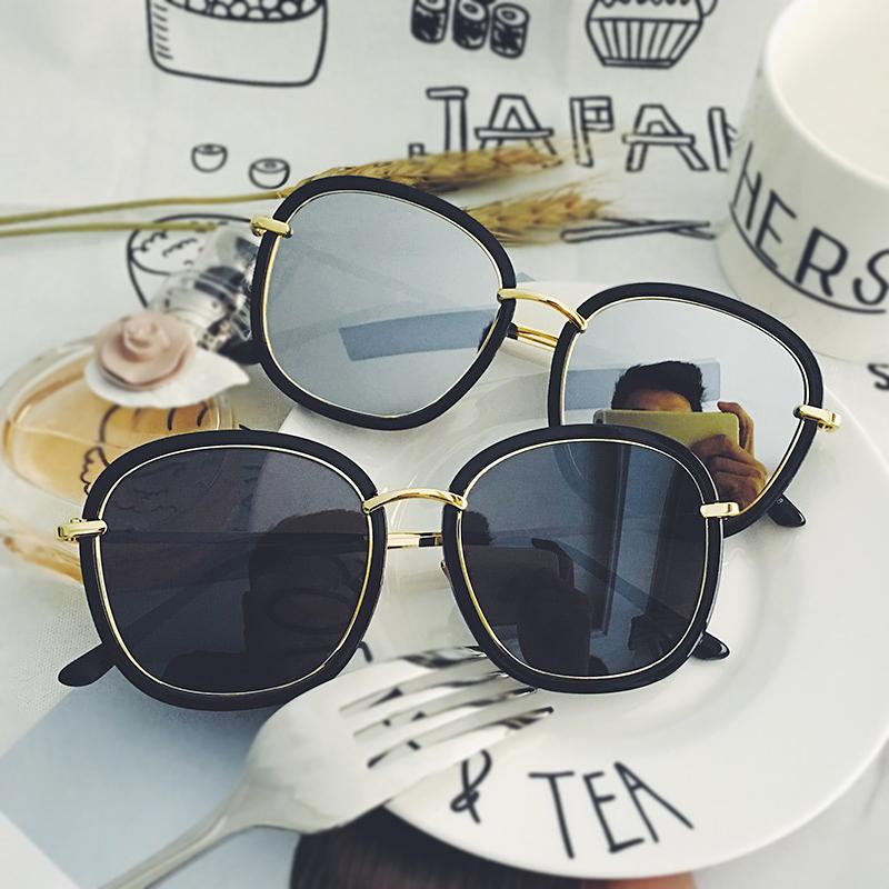 新款明星款GM太阳眼镜彩膜太阳镜男潮牌圆脸时尚近视眼睛GM墨镜女