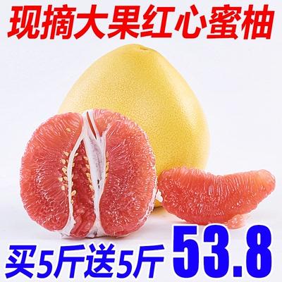 四川紅心柚子水果 新鮮包郵買5斤送5斤紅肉蜜柚當季柚子應季水果