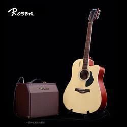 Rosen卢森G11电箱吉他单板民谣木吉他初学者学生男女入门41寸吉它