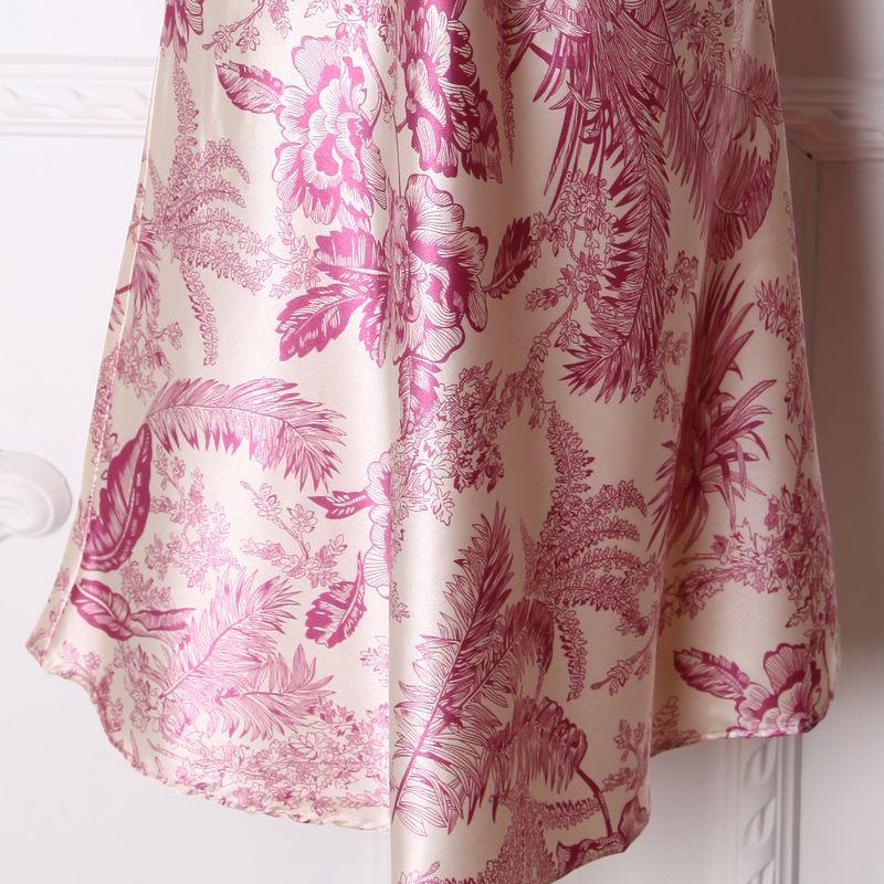 Халат Other brands of underwear Девушки Полиэстер Имитация натурального шёлка Бутоньерки Сексуальный и очаровательный стиль
