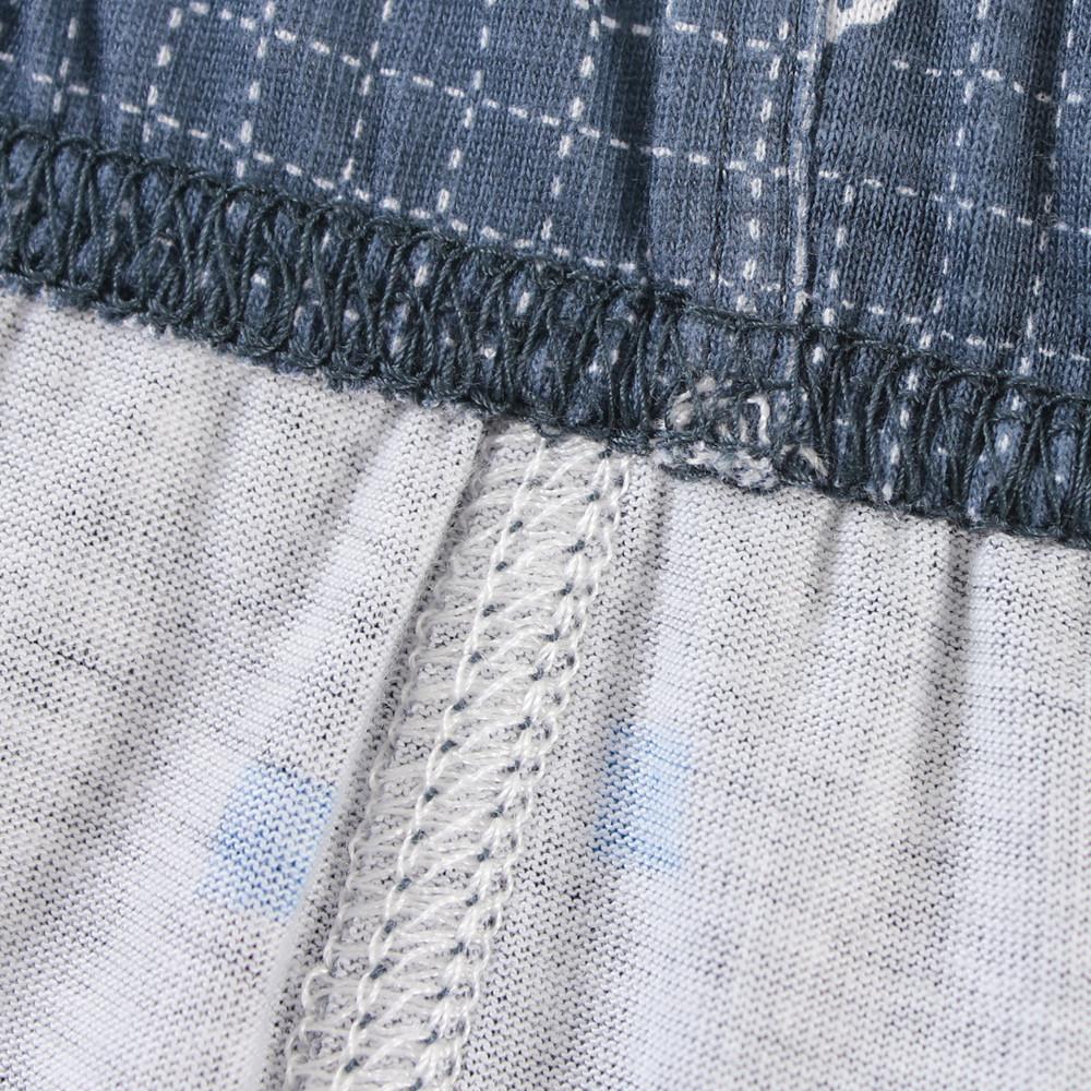 Пижамные штаны Shi Yue 2012 Neiku C6234B Для молодых мужчин Хлопковый трикотаж Хлопок В полоску Простой (повседневный) стиль