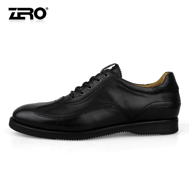 Демисезонные ботинки Zero 2012 F9926 Для отдыха Верхний слой из натуральной кожи Круглый носок Шнурок Весна и осень