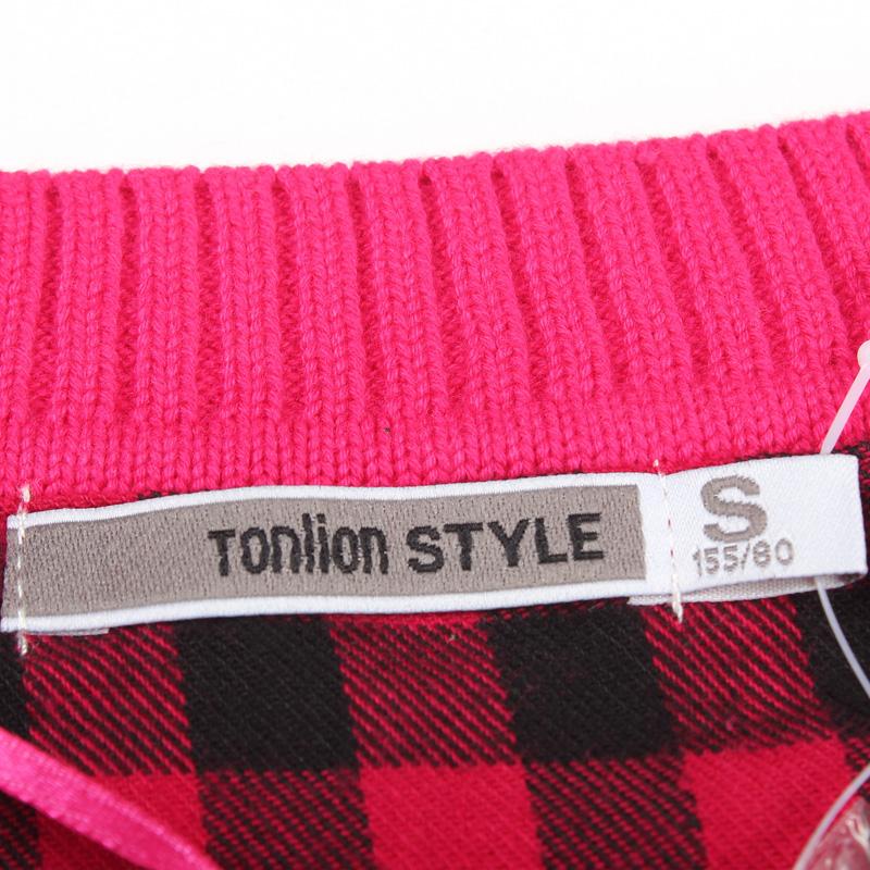Свитер женский Tonlion 111321043107 C621 219 Хлопок Осень 2011 Длинный рукав Классический рукав О-вырез