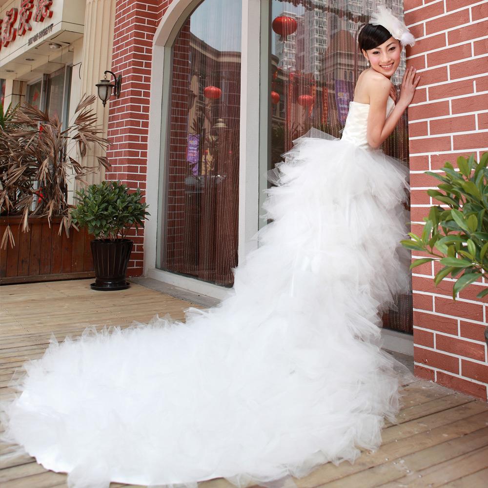 Свадебное платье Bride 928 2011 Ткань кристалл Длинный шлейф