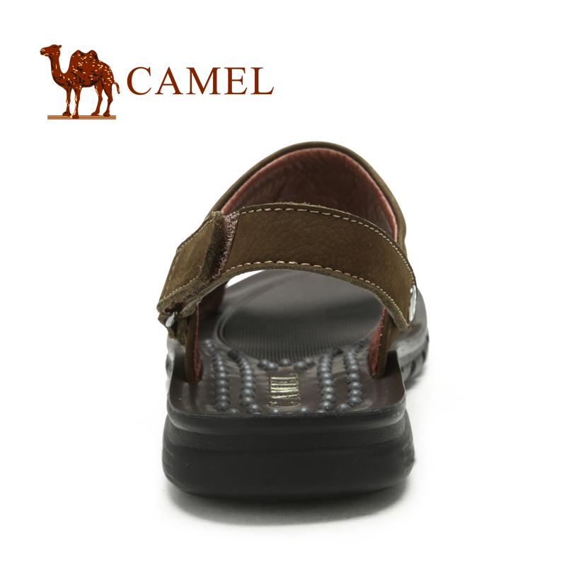 Сандали Camel 82241601 2012 Открытый носок Липучка Кожа быка Весна и осень Пляжная обувь