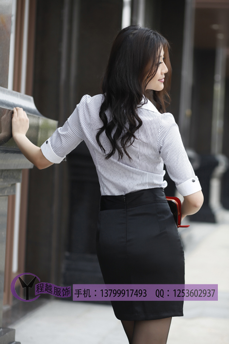 женская рубашка z0815 OL 815 Повседневный В полоску