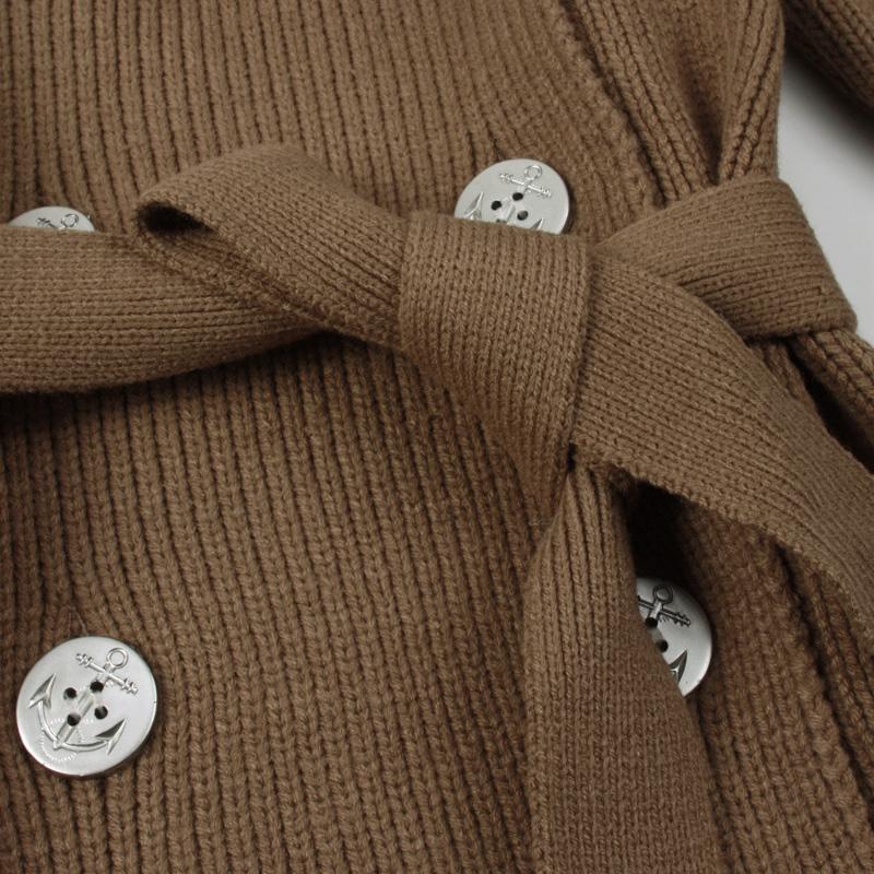 Свитер женский Othermix 02c1731 Акриловое волокно Длинный рукав Классический рукав С капюшоном