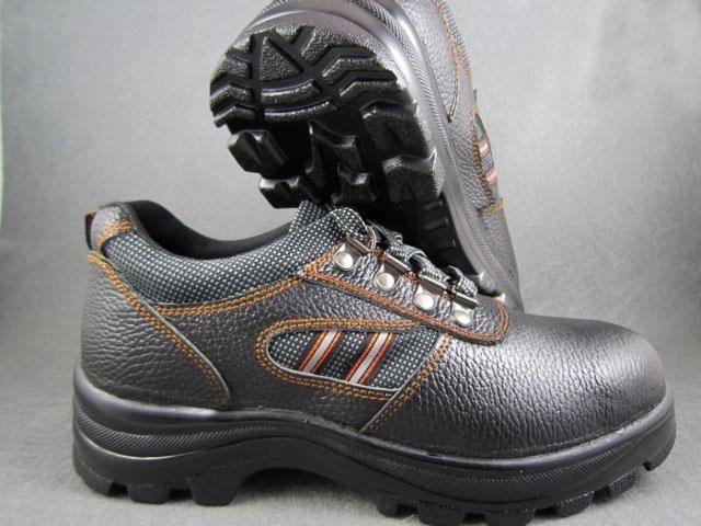 Ботинки из кожи с противоударной защитой Кожа PU в конце брейк доказательства безопасности, безопасности обувь Спецобувь