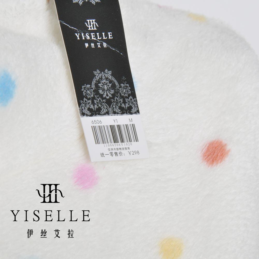Халат Yiselle 6506 298 Девушки Полиэстер Фланель В горошек Гламурный стиль