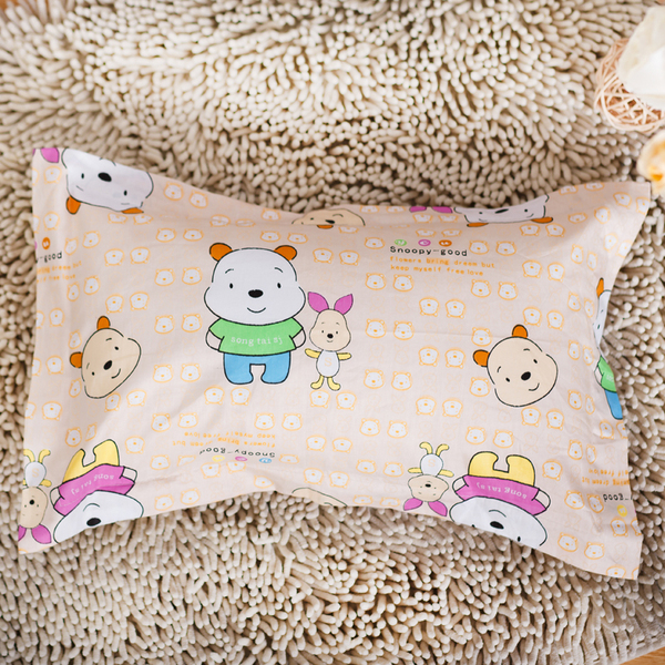 Kindergarten children silk pillow pillow pillow healthy natural cotton with cute cartoon