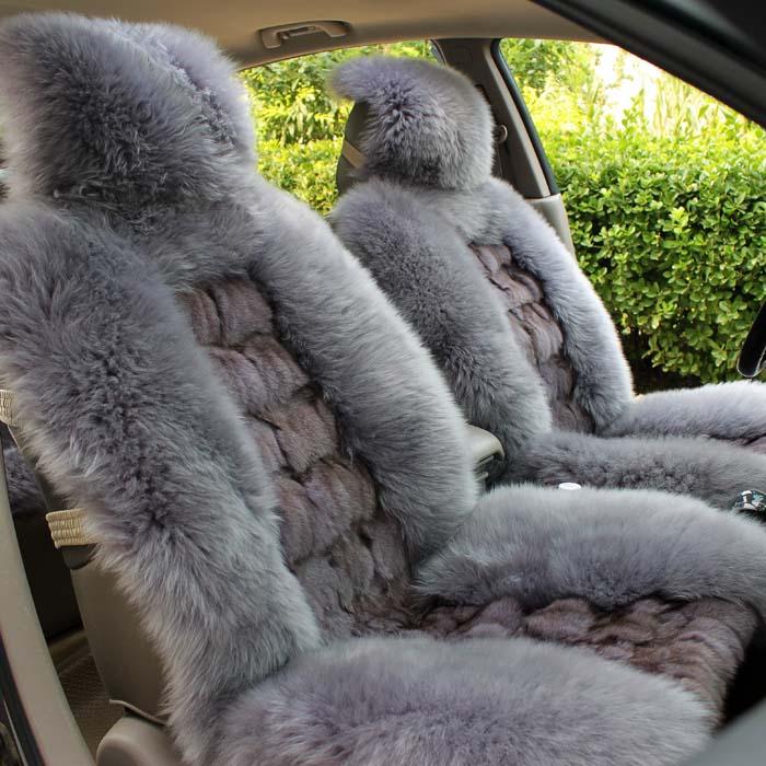 Авточехлы зимние Ecans Натурального меха На 5 сидений Природные волокна Зима