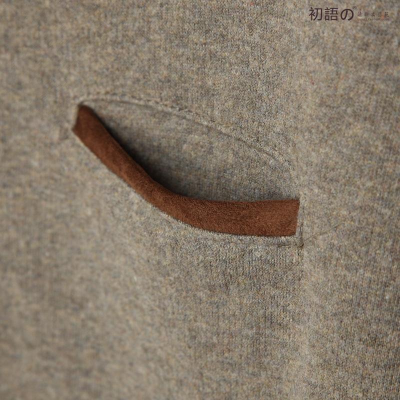 Толстовка женская Early language 03s368 Свитер Однотонный цвет Рукав со спущенным плечом