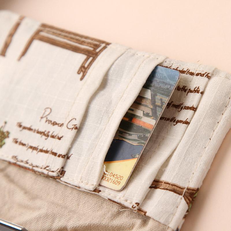Бумажник Other brands sn1369 Iphone Другое Льняная ткань