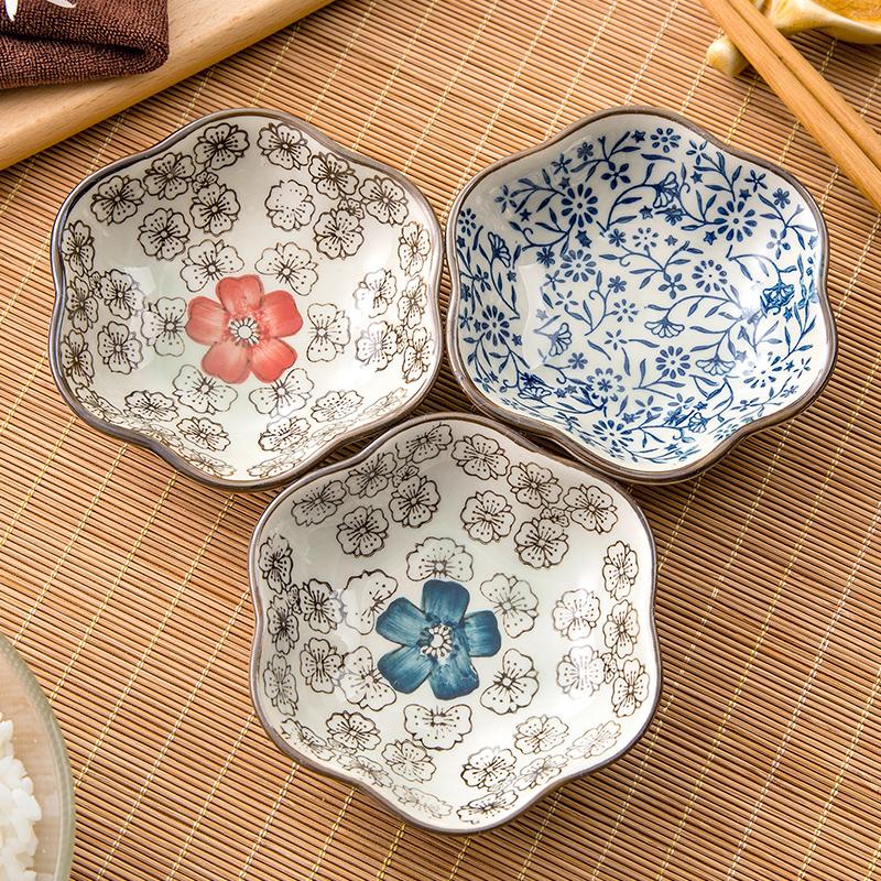 居家家 日式调味碟家用餐碟味碟骨碟 创意陶瓷餐具菜碟盘子小碟子