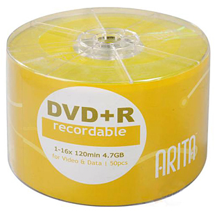 Диски CD, DVD Ritek  DVD-R 16X 50 DVD