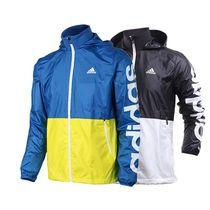 阿迪达斯外套男16春季运动服防风透气连帽休闲夹克AJ3680 AJ3681