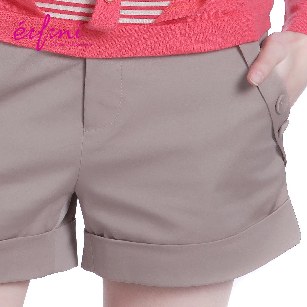 Женские брюки Eifini 1065104 Шорты, мини-шорты Рабочие Повседневный Тонкая модель Карман