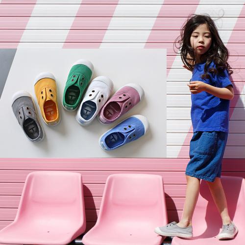 春秋款西班牙香香鞋儿童帆布鞋男童女童低帮软底入园一脚蹬小童鞋