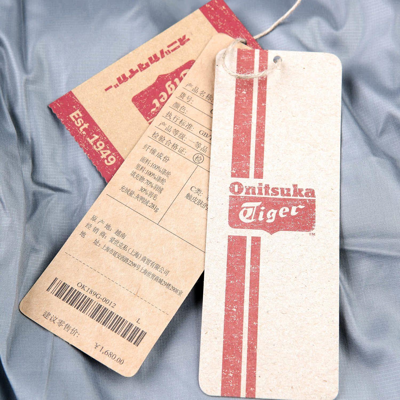 Спортивный пуховик Onitsuka Tiger ok189g/0012 OK189G-0012 Для мужчин 70 серый утиный пух Полиэстер Для спорта и отдыха Логотип бренда % Пуговицы в 1 ряд