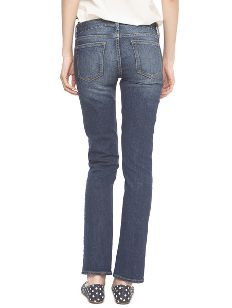 Limited Time 75% off | Gap classic moderate color wash straight jeans Slim thin legs pants | Women 364619