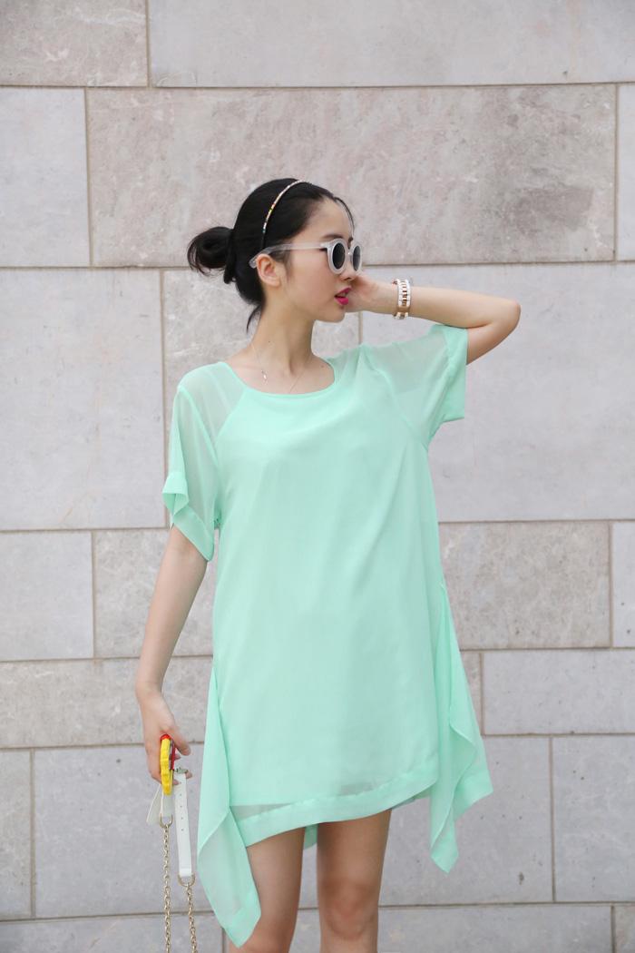 ХАОС пользовательских улица конструкции красный/мятный зеленый платье похож на этот ОП