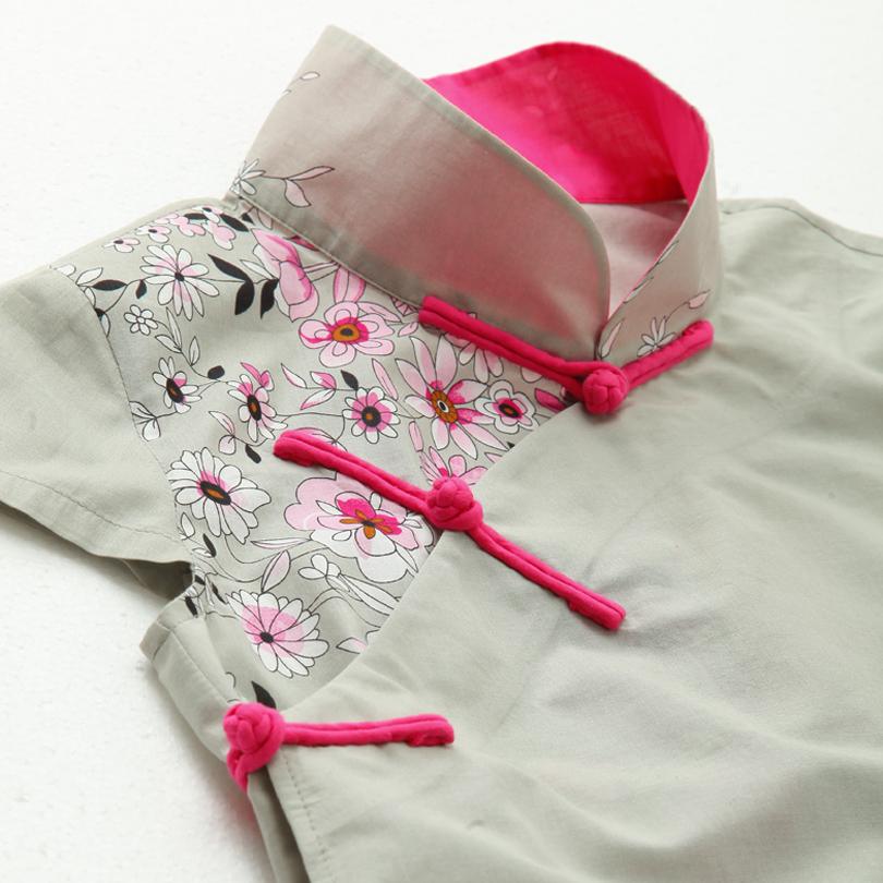 женская рубашка Sun alley Оригинальный дизайн Короткий рукав Рисунок Воротник-стойка