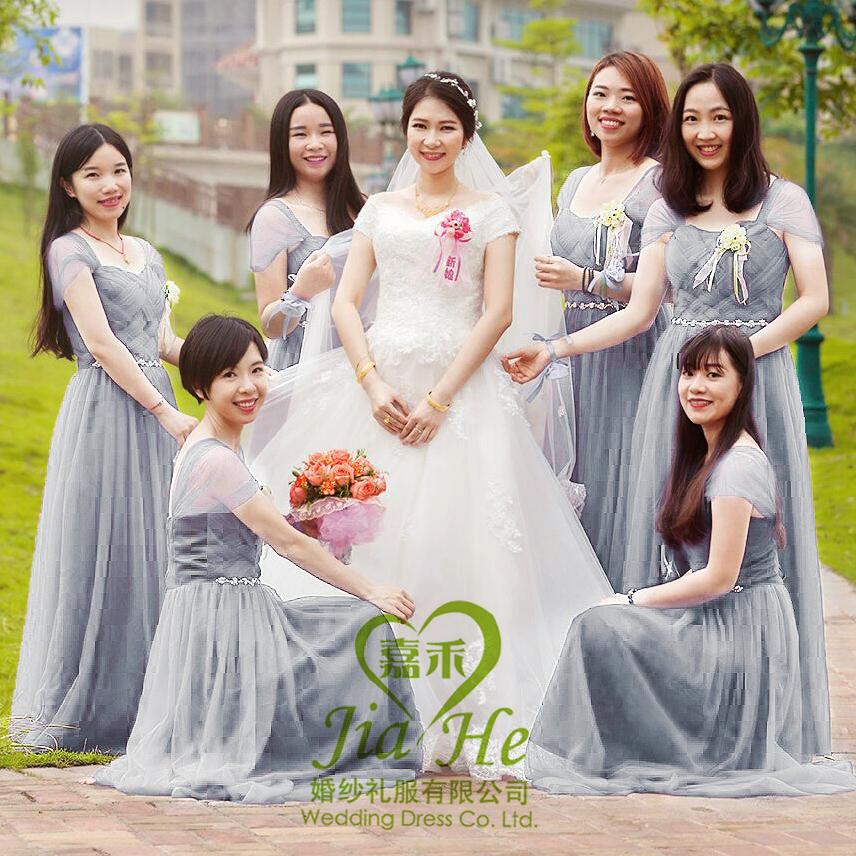 色姐妹成人网����_伴娘服短款2016新款夏韩式香槟色伴娘团礼服姐妹裙显瘦毕业晚礼服