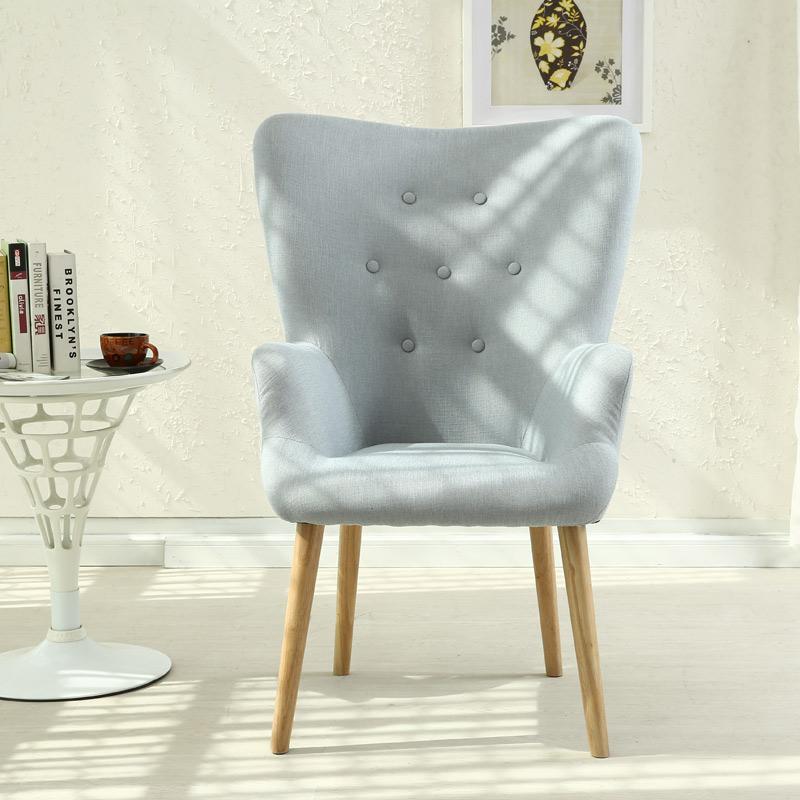 实木休闲沙发椅美式乡村花瓣创意设计师餐桌椅子单人布艺懒人沙发
