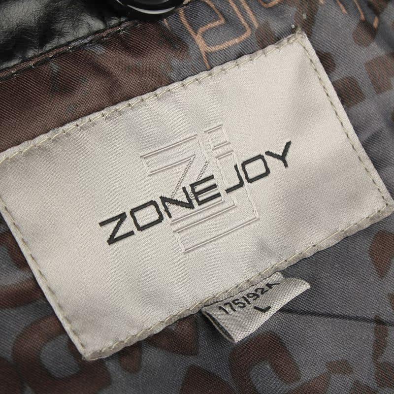 Одежда из кожи Zonejoy 12 /859 PU Имитация кожаной одежды Искусственная кожа (полиуретан) Осень Воротник-стойка Повседневный стиль