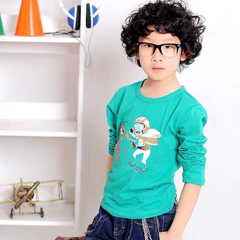 【母婴】贝卡酷儿童印花长袖T恤