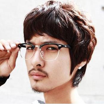 GIMMAX retro black-rimmed glasses frame male star models semi ...
