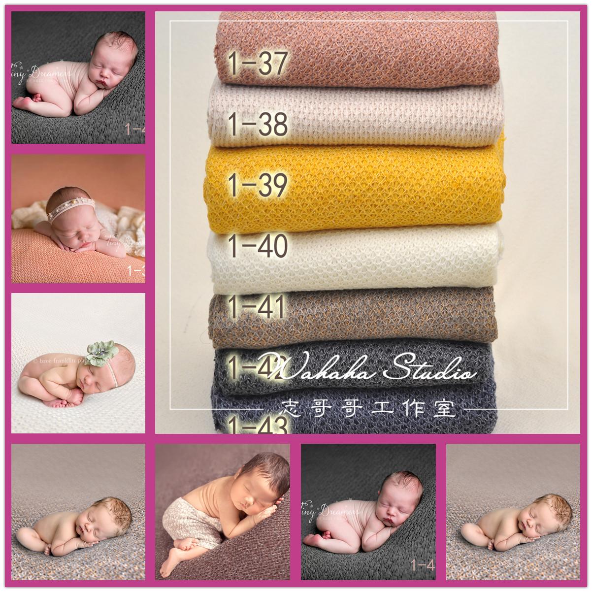 Сгущаться эластичность новый европейско-американский манер новорожденных фотография реквизит одеяла завернуть ткань полнолуние ребенок фотографировать фон ткань