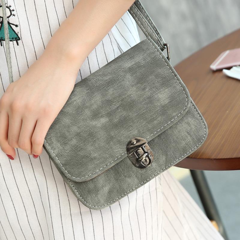 新款韩版女包 潮款复古小方包 迷你单肩斜跨小包包简约时尚学生包
