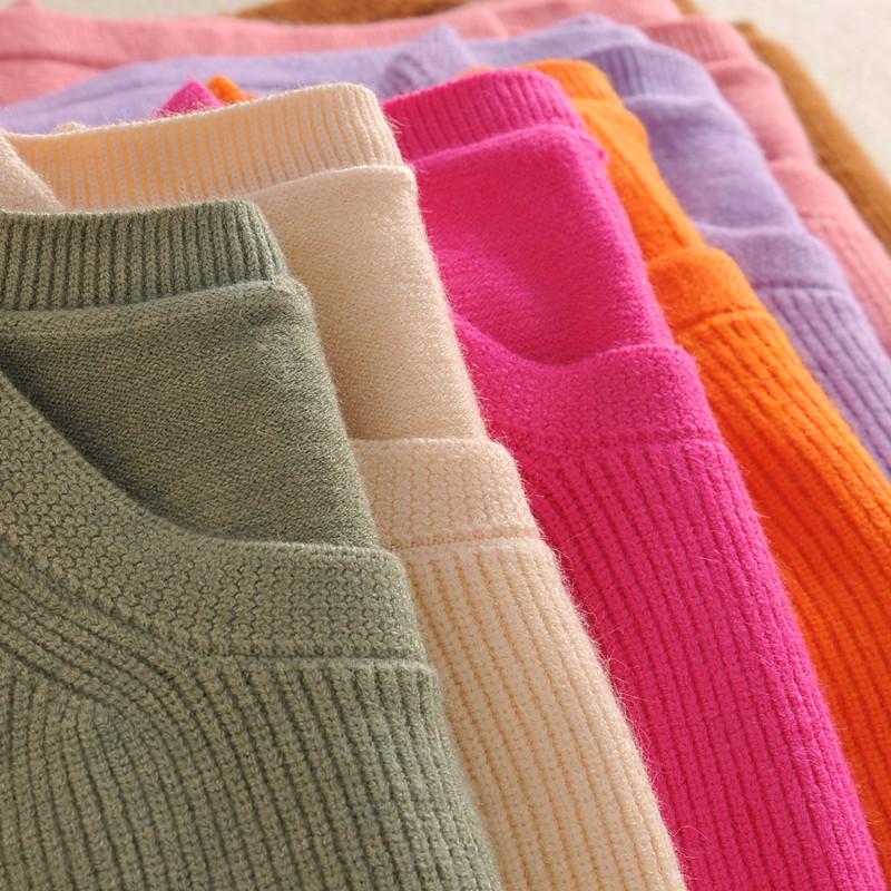 【12.12特惠】抢!新款女保暖羊绒衫显瘦毛衣圆领套头加厚针织衫