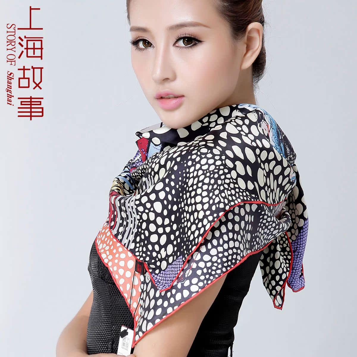 шарф Story Of Shanghai 2013 Женское Шелк Шарф