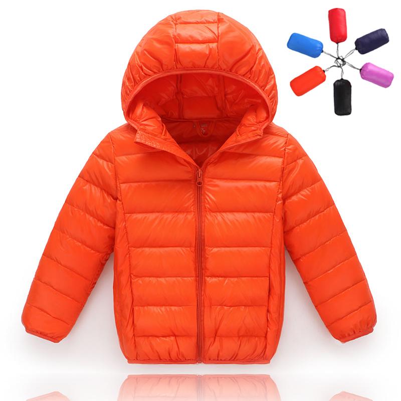 2016冬装新款轻薄款儿童羽绒服男童女童超轻宝宝羽绒连帽短款外套