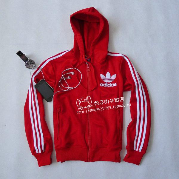 Спортивная куртка Adidas e14576 Для мужчин Отложной воротник Молния Для спорта и отдыха Рисунок, Вышивка, Логотип бренда