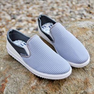 Демисезонные ботинки Для отдыха Ткань Круглый носок Без шнуровки Лето