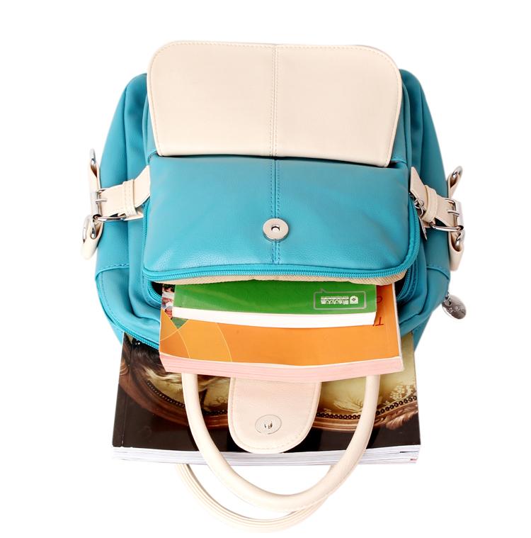 Сумка So bag A34 2013 Девушки Рюкзак Однотонный цвет Искусственная кожа