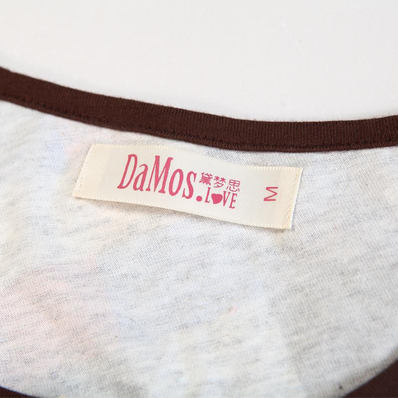 Пижама Damos. love 2013 Хлопковый трикотаж В клетку Свитер Для пары