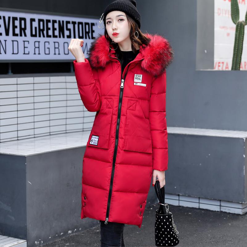 2017 новый хлопок девочки длинная модель бедро воротник пальто сгущаться корея хлопок женская одежда студент ватник
