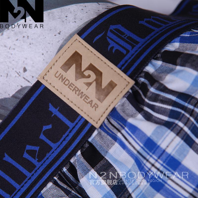 Трусы N2N n43005 Для молодых мужчин Хлопок Боксеры Хлопковая ткань В полоску Цветочный принт Сексуальный и очаровательный стиль